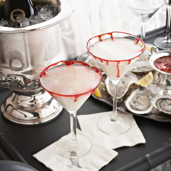 Bloody Rimmed Martini
