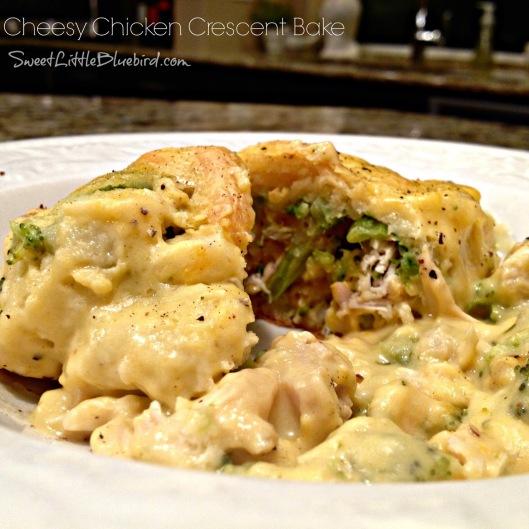 cheesy chicken crescent bake  13a