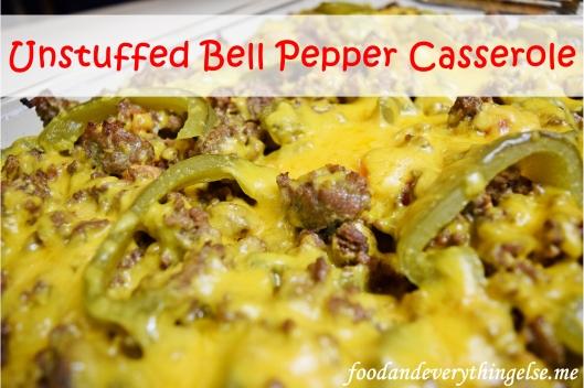 finished unstuffed bell pepper casserole