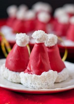 oreo-ball-santa hats