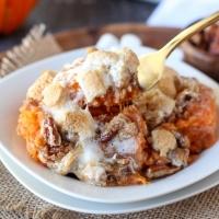 Sweet Potato Casserole W/Marshmallow Pecan Streusel