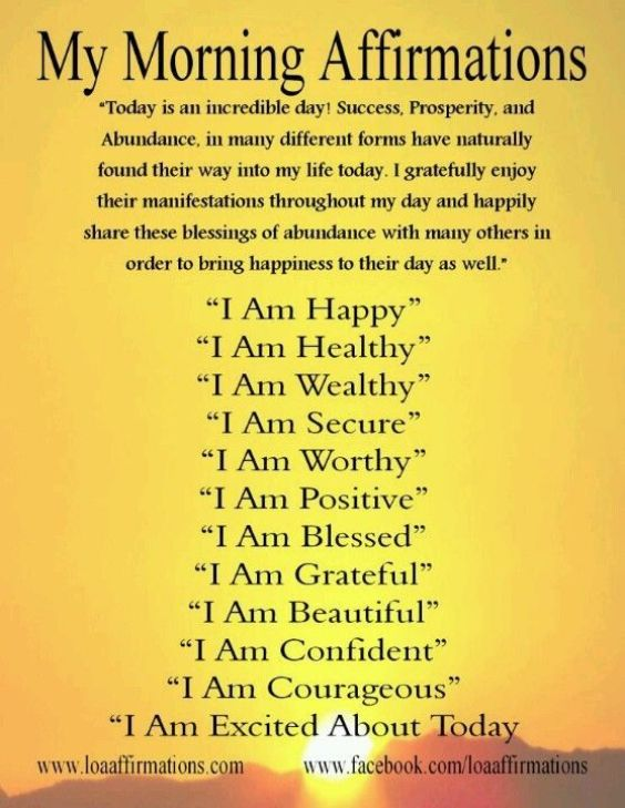 My Morning Affirmations! Quotes