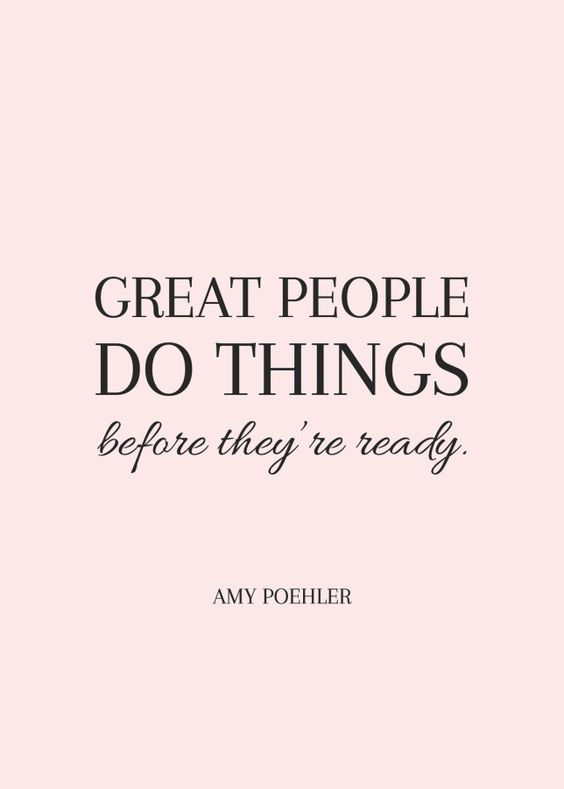 Great people do things! QUOTE