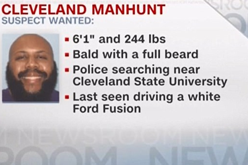 Cleveland Ohio; Manhunt For Suspect In Facebook Live Fatal Shooting