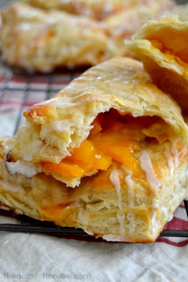 The Easiest Peach Turnovers